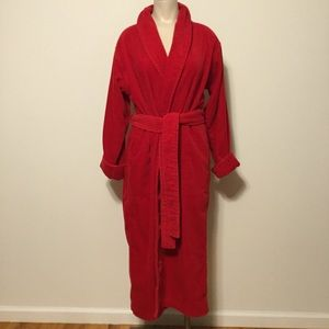 VICTORIA'S SECRET Terry Cloth Lined Red Robe XS/S